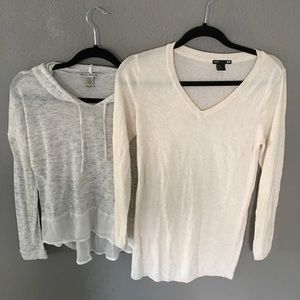 Lot of 2 gray hoodie long sleeve and h&m sweater